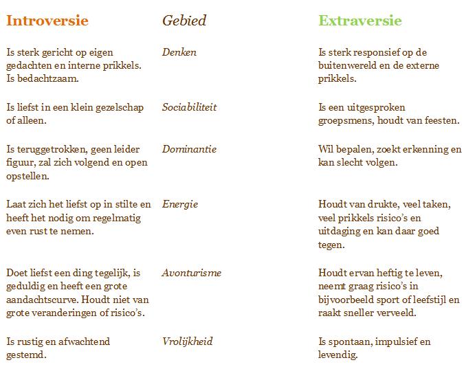 introverte persoonlijkheid